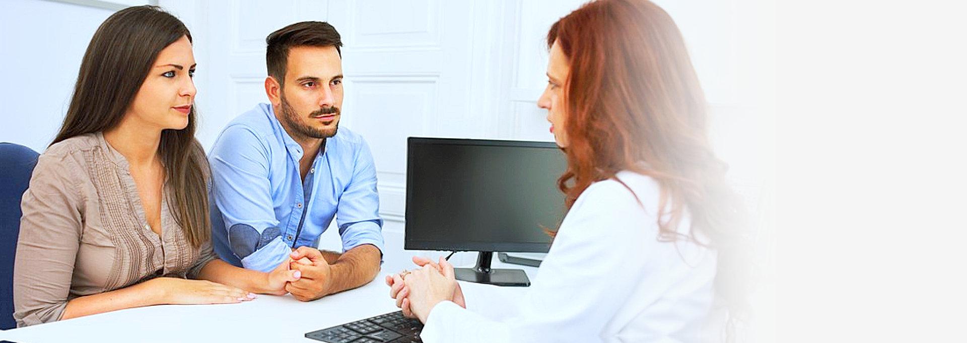 couple talks with therapist